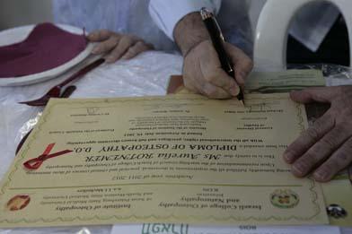 остеопатический диплом ICON